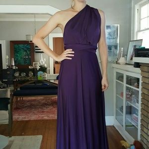 Lulus bridesmaid eggplant